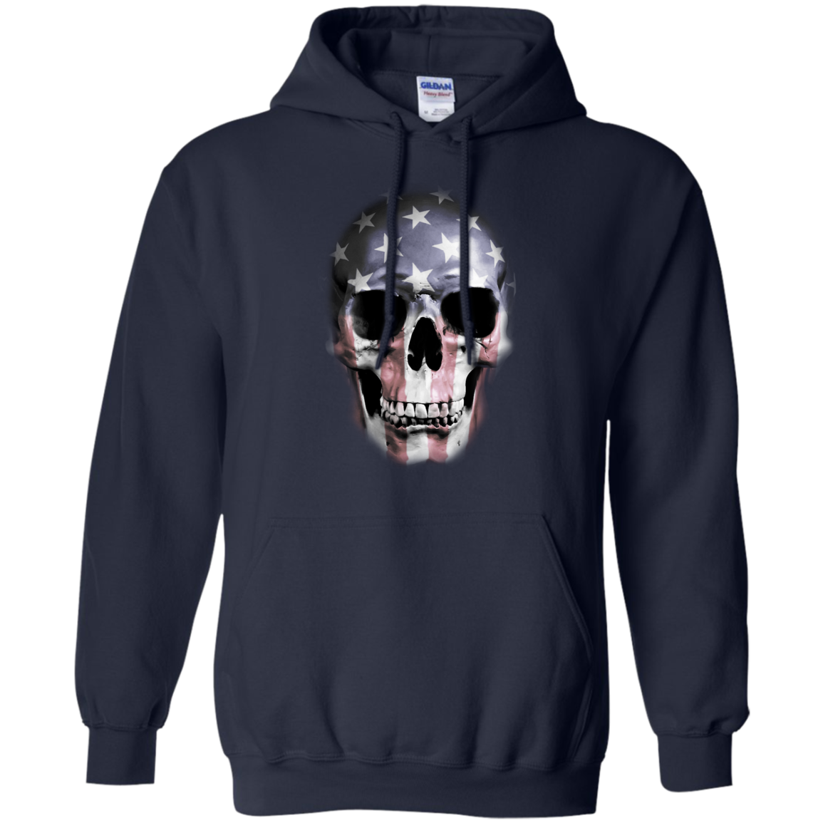 American Skull T-Shirt & Hoodie, Sweatshirt - The Sun Cat