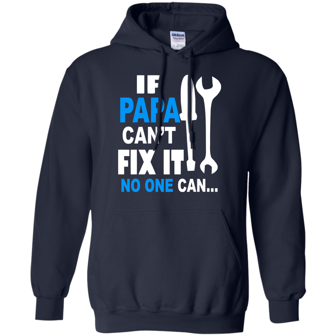 If Grandpa Can't Fix It No One Can - Funny Christmas Gift For Grandad T-Shirt - The Sun Cat