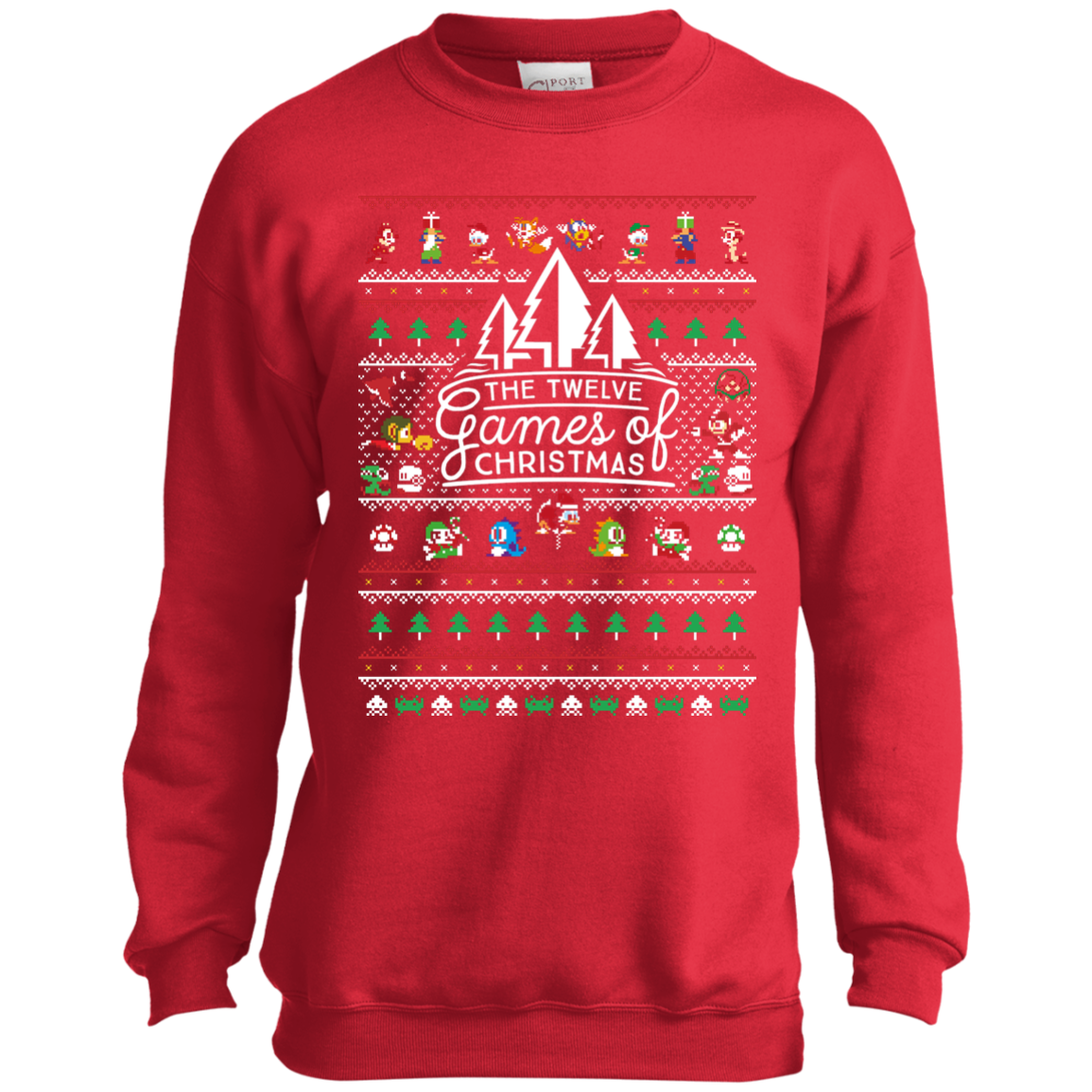 12 Games of Christmas Sweatshirt Ugly Christmas Sweater - The Sun Cat