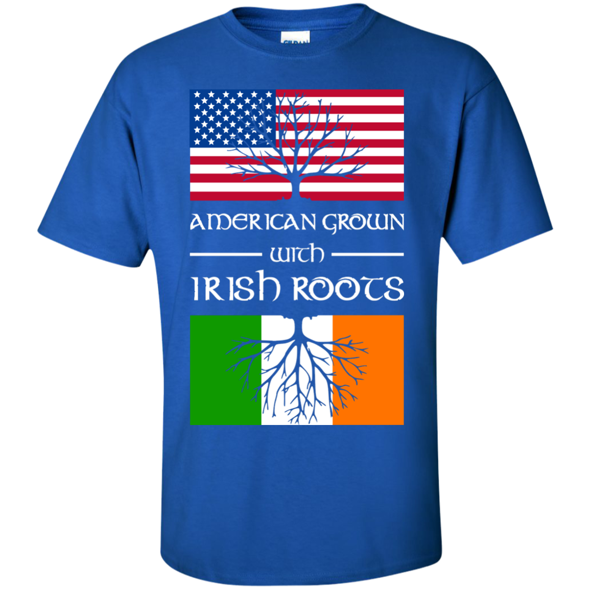 American Grown With Irish Roots T-Shirts - The Sun Cat