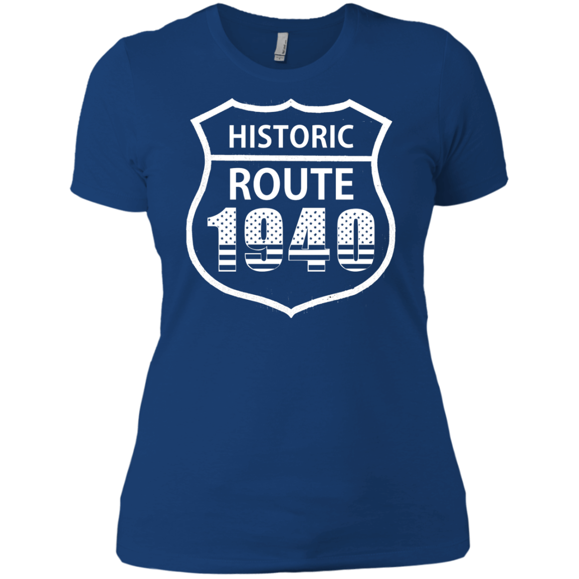 1940 Historic Route The American Way T-Shirts Funny Sports Shirt Football Tee - The Sun Cat