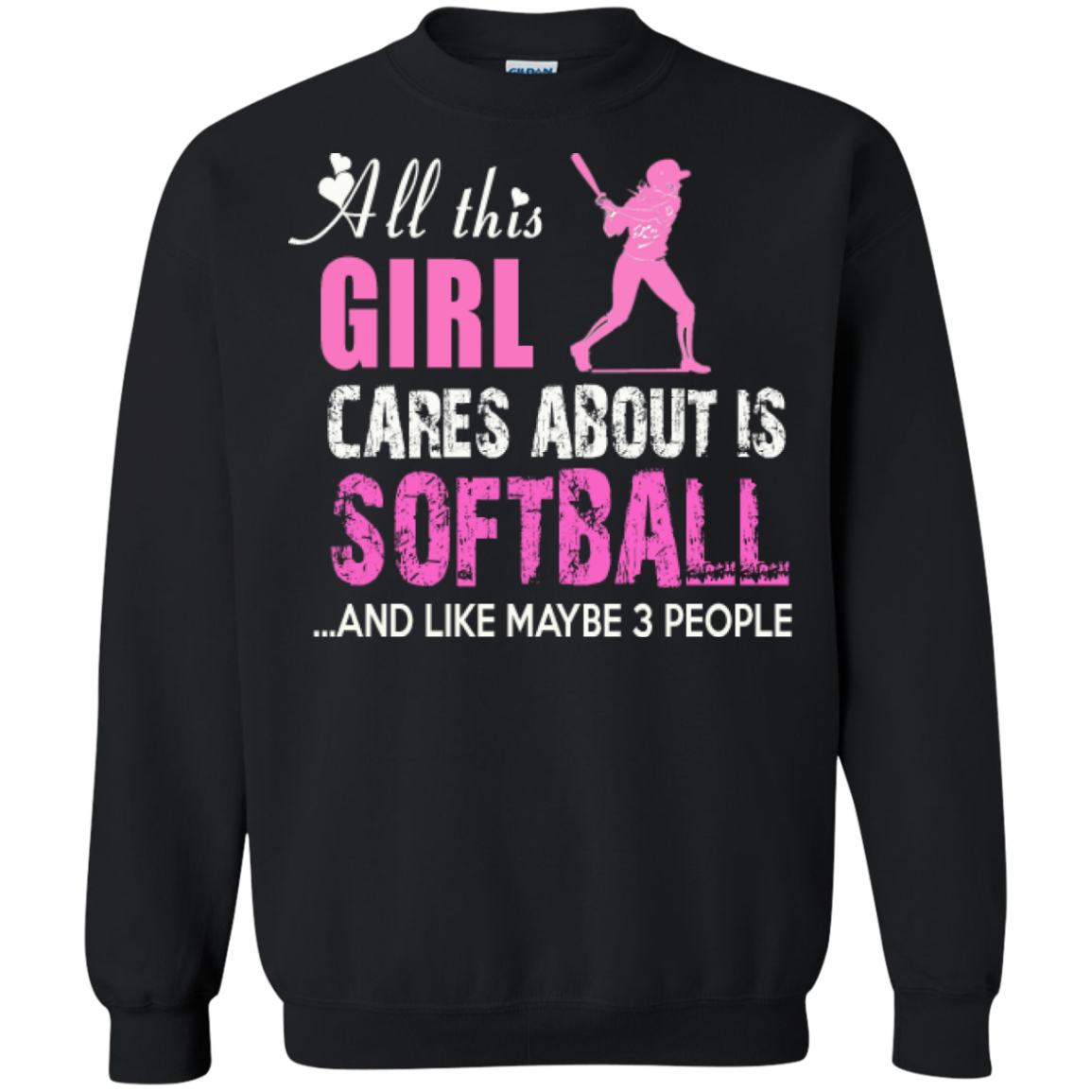 All This Girl Cares About Is Softball Softball Mom T Shirts - The Sun Cat