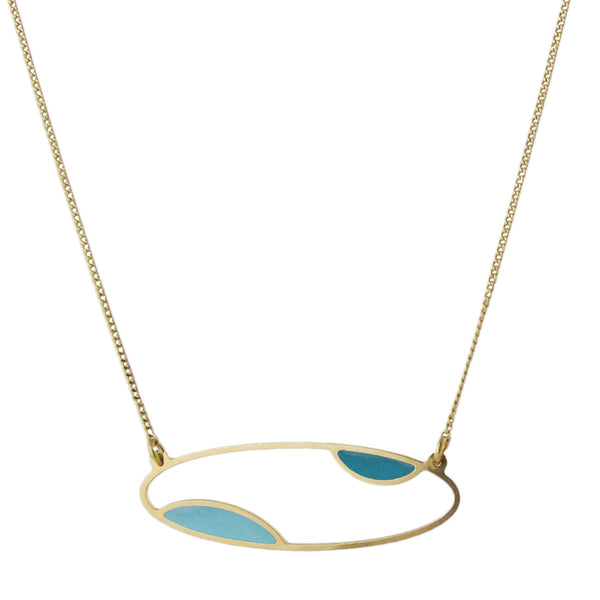 Collier doré fin oval