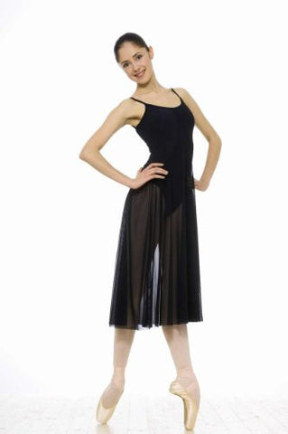 Grishko Long Dance Dress With Integral Leotard & Bust Support Lining - DA57M