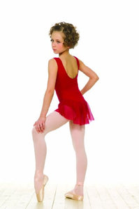 Grishko Children's Tank Top Leotard With Skirt. Burgundy size 9-10 - DAD09LJU