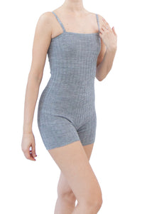 TC602- Tendu Ribbed Short Unitard