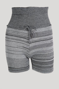 TC103- Tendu Shorts with tie/ roll waist
