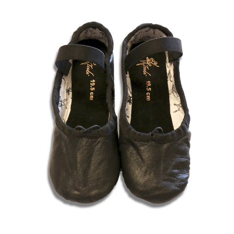 Tendu Black Leather Ballet slipper - TBLFA