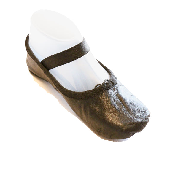 Tendu Black Leather Ballet slipper - TBLFC