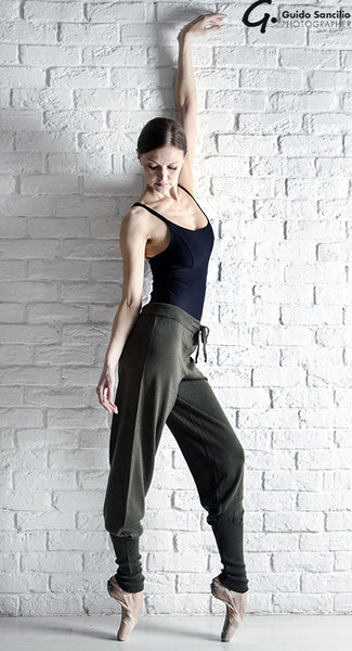 Tendu Knitted Cuffed Yoga Pants - TC123