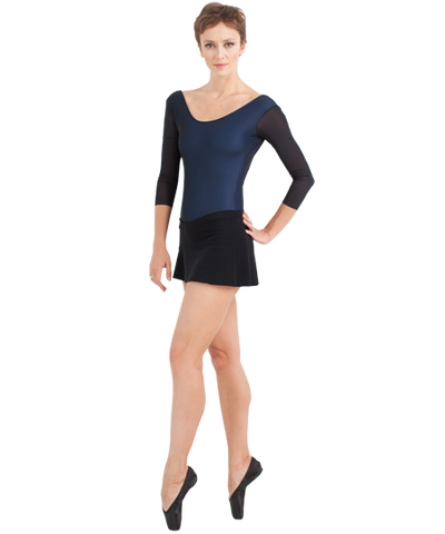 Grishko Leotard With Long Mesh Sleeve - DA1267/1M