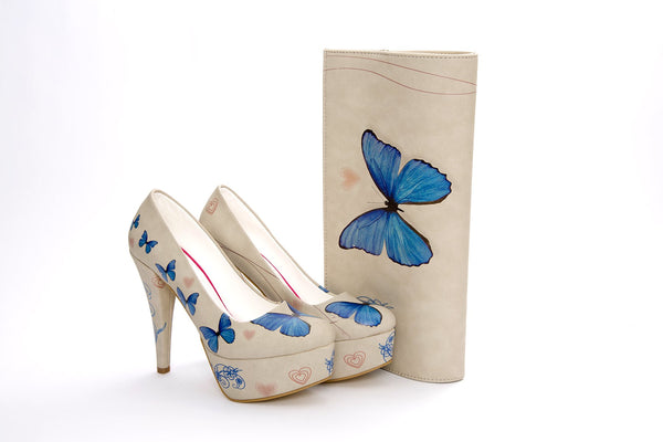 High Heel Platform Shoes & Hand Bag ST7001