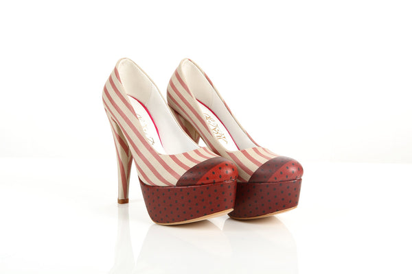 High Heel Platform Shoes & Hand Bag ST7009