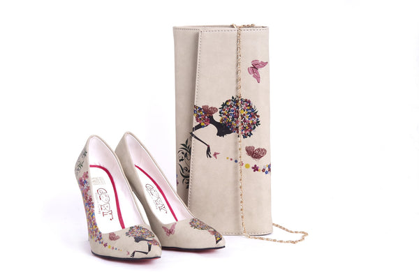 High Heel Shoes & Bag TK5004