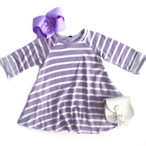 Lavender Stripe Dress
