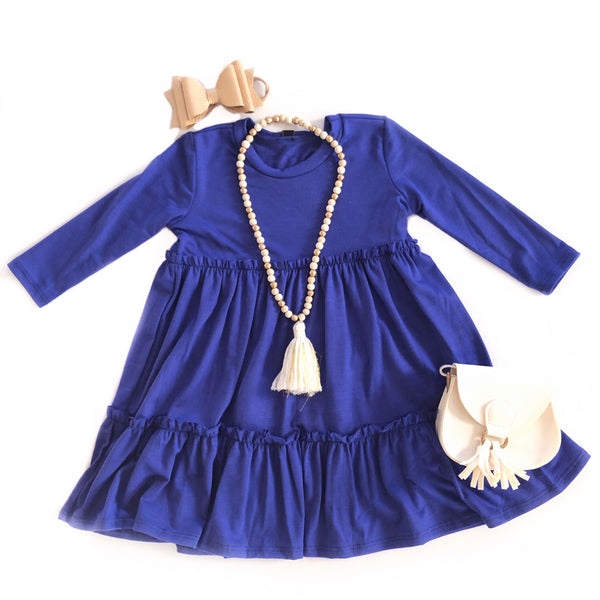 Spring Blue Tiered Dress
