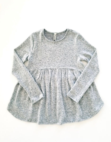 Heather Gray Baby Doll Top