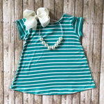 Teal Stripe Dress