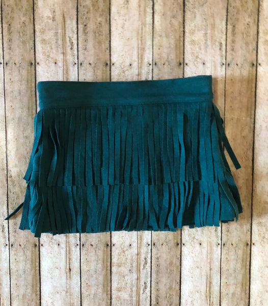 Emerald Fringe Skirt