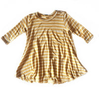 Golden Yellow Stripe Dress