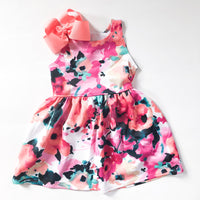 Watercolor Floral Sleeveless Dress