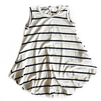 Ivory Stripe Swing Dress