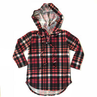 Red/Black Plaid Youth Hoodie