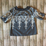 Grey Chambray Embroidered Tunic