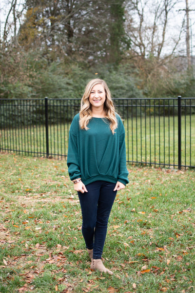 Hunter Green Thermal Sweater