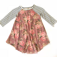 Youth Mauve Floral Print Dress