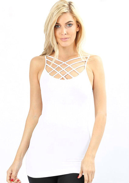 White Caged Tank