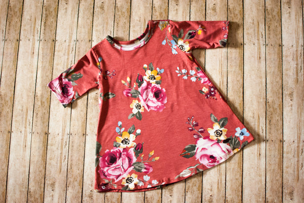 Floral Rust Dress