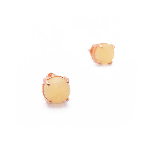 Aragonite 18k Rose Gold-plated Earstuds - Shop ROCKUP