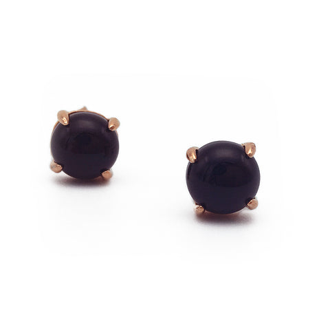 Onyx 18k Rose Gold-plated Earstuds - Shop ROCKUP