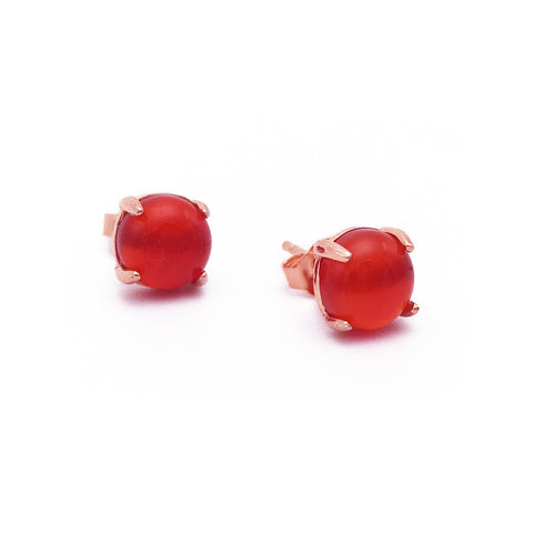 Red Opal 18k Rose Gold-plated Earstuds - Shop ROCKUP