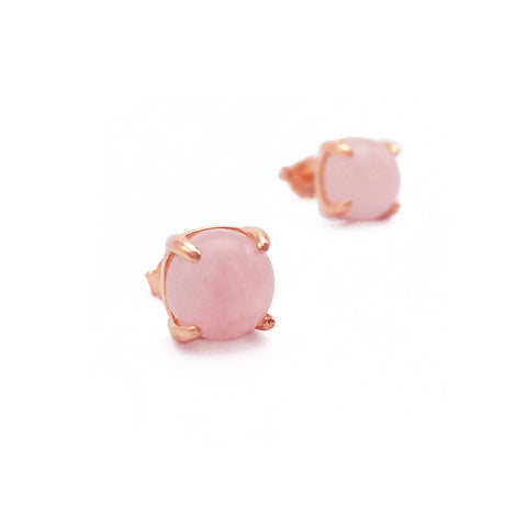 Rose Quartz 18k Rose Gold-plated Earstuds - Shop ROCKUP