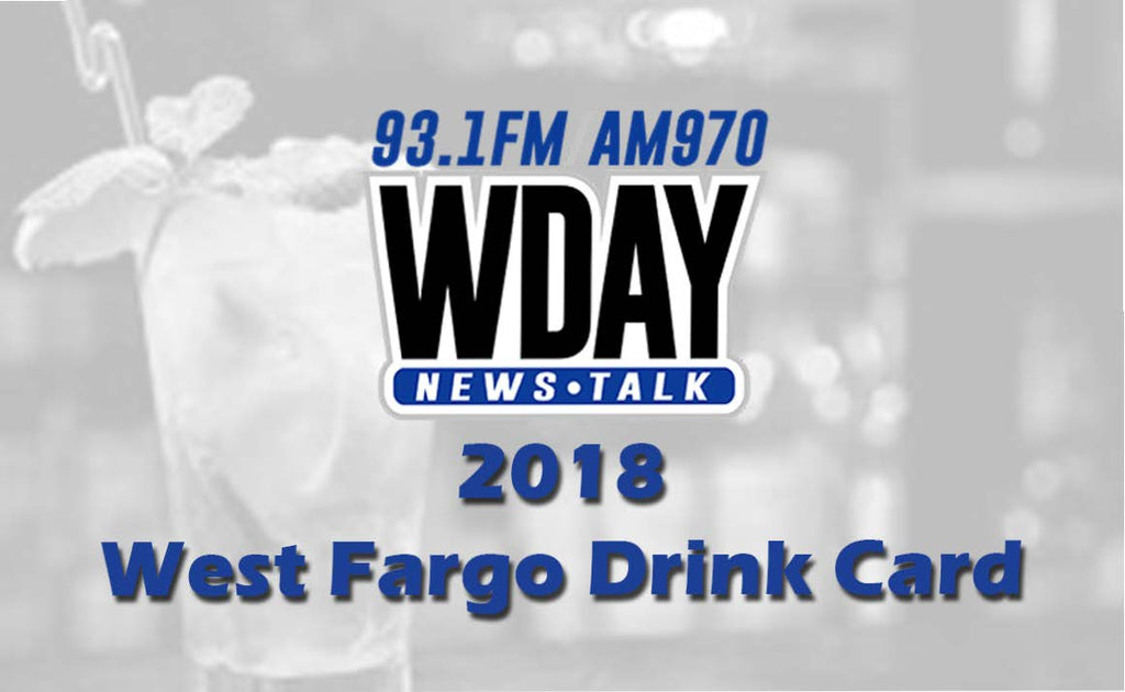 2018-2019 WDAY West Fargo Drink Card