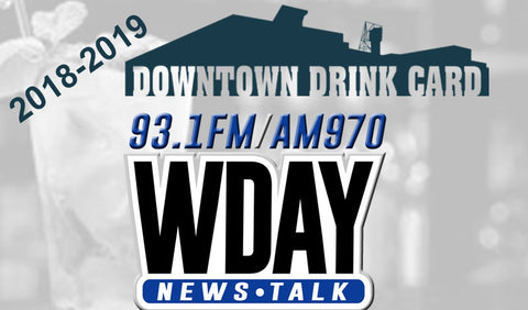 2018-2019 WDAY Downtown Drink Card