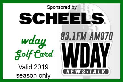 *2019 WDAY Golf Card*  - On Sale Starting Tues. April 23rd at 8am!