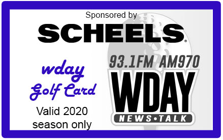 *2020 WDAY Golf Card* - On Sale Starting Thurs. April 30th at 8am!