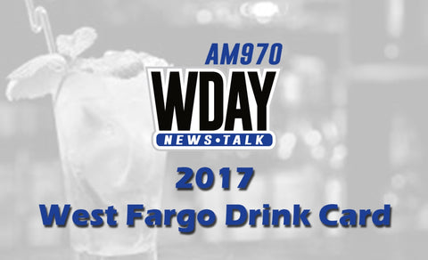 2017-2018 WDAY West Fargo Drink Card