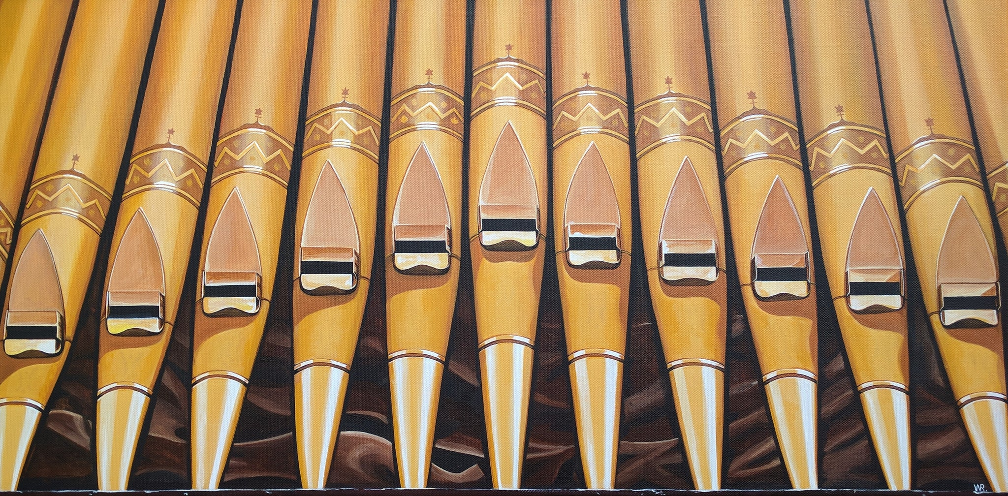 Organ Pipes At Grace United