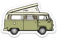 """TMA VW Bus"" - Green"
