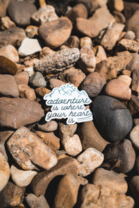 """Adventure is..."" Sticker"