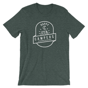 "The ""Happy Campers"" T-shirt (Heather Forest)"