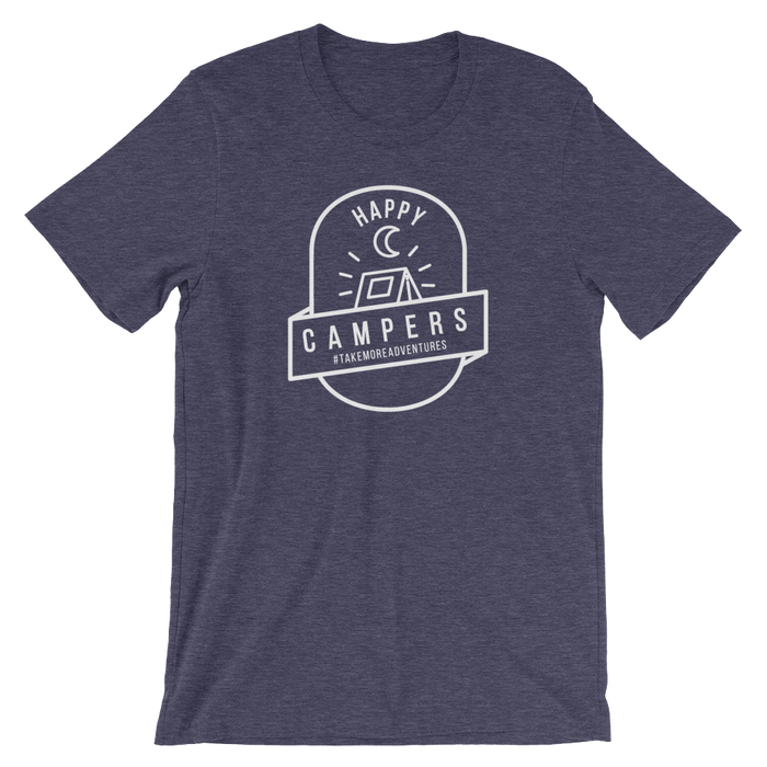 "The ""Happy Campers"" T-shirt (Heather Navy)"