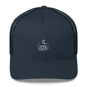 "The ""Happy Campers"" Minimal Trucker Hat"