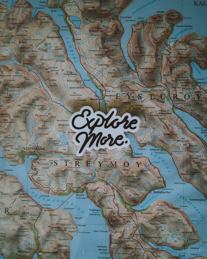 """Explore More"" Sticker - Black"