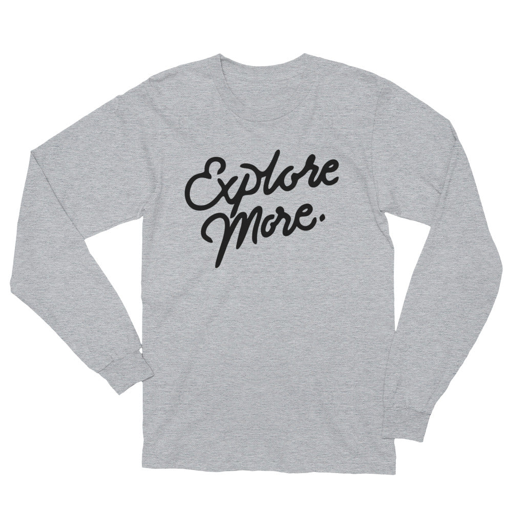 "The ""Explore More"" Long Sleeve (Heather Grey)"