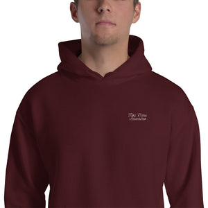 "The ""TMA Script"" Embroidered Hoodie - Maroon"